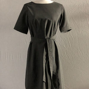Lands' End Gray Washable Wool Dress Size 4